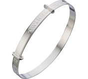 Sterling Silver Baby's Nursery Rhyme Expanding Bangle