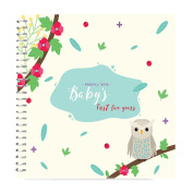 MEMORY BOOK + STICKERS - Unconditional Rosie Baby Girl's FIRST FIVE YEARS Record Book With 12 Milestone Stickers Included