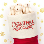 NEW - 20 X Cute And Cuddly Little WHITE Teddy Bear - Xmas Stocking Fillers Christmas