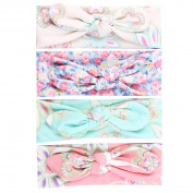Baby Headbands, Amazingdeal365 Cute Baby Headband Bunny Ear Girl Headwear Bow Elastic Knot Headbands-Pack of 4