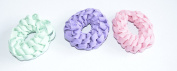 Cool And Trendy Cotton Pony Chain Shoelace Scrunchies