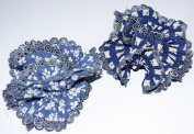 Exquisite And Luxurious Twisted Handmade Chifon Hair Scunchie With Crocheted Ends