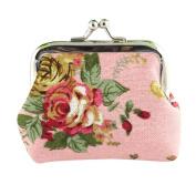 Kolylong Women Lady Retro Vintage Flower Small Wallet Hasp Purse Clutch Bag