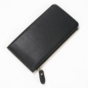 S-ZONE Women's Genuine Leather Multi Card Organiser Wallet with Zipper Pocket