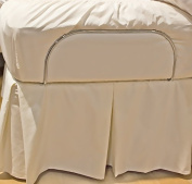 Gotcha The Classic Collection Cotton Percale Adjustable Bedskirt Full XL White