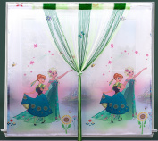 Frozen Kids Voile Curtain Room Decoration Ready Made New
