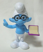 2013 US McDonald's Happy Meal toy movie ' The Smurfs 2 (THE SMURFS 2) ' ' brainy ' figure