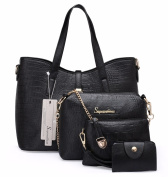 Women's Female Bag Set Alligator Design 4 Individual Bags