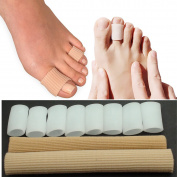 10 Pieces Toe Tubes Fabric Sleeve Protectors for Bunions Sore Corns Hammer toes Callus & Blister