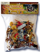 Plastic Toy Soldiers Crusades Turks and Saracens Infantry Painted Figure Set 12 Pieces with Camels Marx Type Army Men