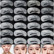 Lalang Reusable Eyebrow Shaping Stencils Set Grooming Brow Make Up Kit Tool Template