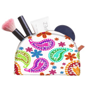 Snoogg Abstract Pattern White Designer Multifunctional Canvas Pen Bag Pencil Case Makeup Tool Bag Storage Pouch Purse
