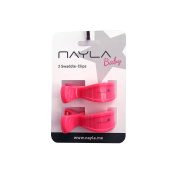 Nayla Baby Pram Clips 2 Piece Set in Neon Pink