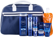 Nivea Men Ultimate Fitness Bag and Water Bottle Gift Set - 5-Piece