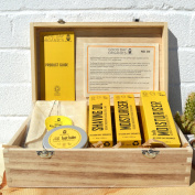Certified Organic Bearded Man Complete Winter Grooming Timber Gift Box | Suitable for all Skin Types | Handmade in the UK