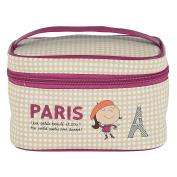 Vanity PARIS Beige Small Mini Cosmetic Derrière La Porte