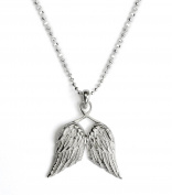 Tales from the Earth Guardian Angel Wing Necklace with Satin Pouch