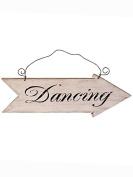 Wooden Vintage Wedding 'Dancing' Arrow Sign Decoration