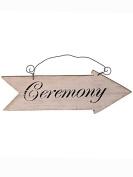 Wooden Vintage Wedding 'Ceremony' Arrow Sign Decoration