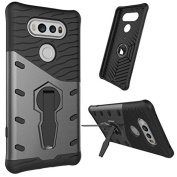 LG V20 Case, NOKEA Heavy [Heavy Duty] [Dual Layer] Combo Holster Cover Defender Full Body Protective Cover with 360 Degree Rotating Kickstand for LG V20