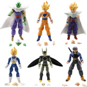 Dragon Ball Z 6pcs Set Action Figure Dragonball Z Goku Piccolo DBZ Jp Anime Toys Loose by Tianxing