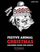 Festive Animal Christmas Coloring Book for Adults