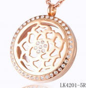 Tree of Life or Rose Essential oil Aromatherapy Diffuser Locket Pendant Necklace Silver or Rose Gold with Crystal Border