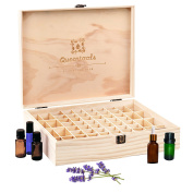 Queentools Essential Oil Wooden Storage Box Holds 68 Bottles (Size 10ml and 15ml Bottles), High Quality, for Home and Travel