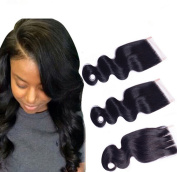 ATOZHair 7A 100% Unprocessed Body Wave Nature Black Size 4x4 Lace Closure Hair Extensions 50 Gramme in Total