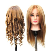 SHERUI Mannequin head, 60cm Long Hair Cosmetology Mannequin Manikin Training Head Model with Clamp