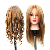 SHERUI Mannequin head, 60cm Long Hair Cosmetology Mannequin Manikin Training Head Model with Clamp