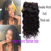 Top Hair Brazilian Virgin Hair Water Wave 3 Bundles Natural Colour Human Hair Extensions Mixed Length 8-80cm
