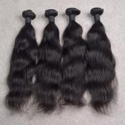 ATOZHair 7A Brazilian Human Hair 4 Bundles Nature Black Nature Wave Unprocessed Hair Extensions 200 Gramme in Total