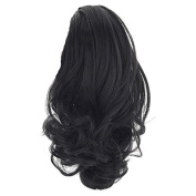 Besgo 30cm Claw Ponytail Clip In On Hair Extension Curly Style Hairpiece for Women Daily Makeup and Costume