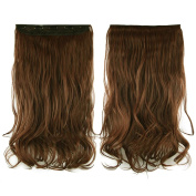Besgo 41cm Full Head Curly Wave Clips in on Synthetic Hair Extensions Hairpieces for Women Daily Makeup and Costume