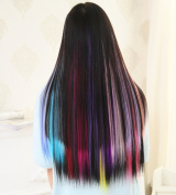5I Upgrade Version 60cm Fashion Multi-Colours Christmas Party Highlights Clip Extensions Perfect for DIY Hair Decoration (8 Pcs Four Colours) Z037