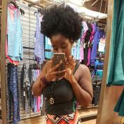 Longqi Beauty Wholesale Wrap Synthetic Hair Drawstring Ponytail Afro Puff Kinky Curly 1Pcs #1B