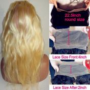 LiLi Beauty Brazilian Virgin Human Hair Body Wave Pre Plucked 360 Lace Frontal Closure Light #613 Bleach Blonde 41cm
