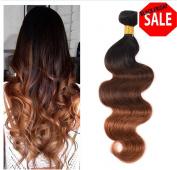 YAMI HAIR Brown Weave Bundles Brazilian Ombre Human Hair 1B 4 30 Body Wave , Cheap Three Tone Ombre Brazilian Hair Body Wave 3 Pcs Lot