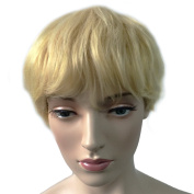 Namecute Short Blonde Wig Natural Synthetic Hair Replacement Wigs for Women Heat Resistant Fibre + Free Wig Cap