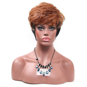 Secretgirl Fashion Short Brown to Black Wigs for African American Women Fluffy Costume Party Wigs