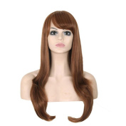 Aoert Long Brown Body Wave Synthetic Heat Resistant Fibre Wigs for Women 70cm