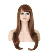Aoert Long Brown Body Wave Synthetic Heat Resistant Fibre Wigs for Women 70cm