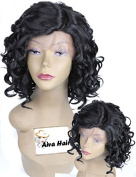 Wet and Wavy Synthetic Lace Front Bob Wigs for Black Women Heat Resistant African American Wigs