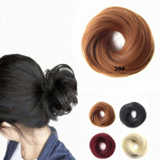 FESHFEN Scrunchy Scrunchie Hairpieces Elastic Messy Hair Bun Ponytail Hair Extensions Wig Drawstring-30# Light Auburn