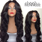 Fennell 150% Density Fashion Body Wave Brazilian Human Hair Lace Front Wig/Full Lace Wig Bleached Knots With Baby Hair Natural Colour For Women