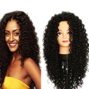 ATOZHair New Arrival Long Curly Wave Nature Black Synthetic Wig