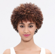 ATOZHair New Arrival Short Bob Kinky Curly Wave Dark Brown Synthetic Wig