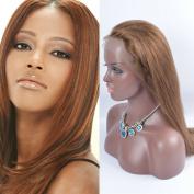 OrderWigOnline Human Hair Lace Front Wigs 100% Unprocessed Virgin Brailian Silky Straight Wigs For Black Women With Baby Hair Gluelesss Brazilian Remy Virgin Lace Wigs 130% Density 46cm 4#