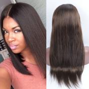 OrderWigOnline Human Hair Lace Front Wigs 100% Unprocessed Virgin Brailian Silky Straight Wigs For Black Women With Baby Hair Gluelesss Brazilian Remy Virgin Lace Wigs 130% Density 46cm 2#